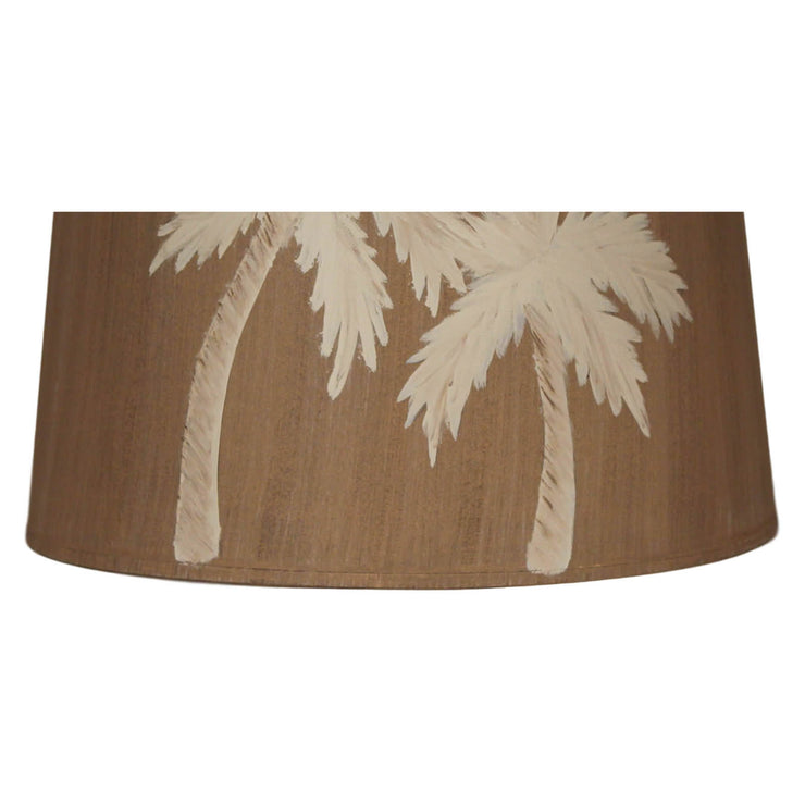 Two Palms Drum Lamp Shade Close-up