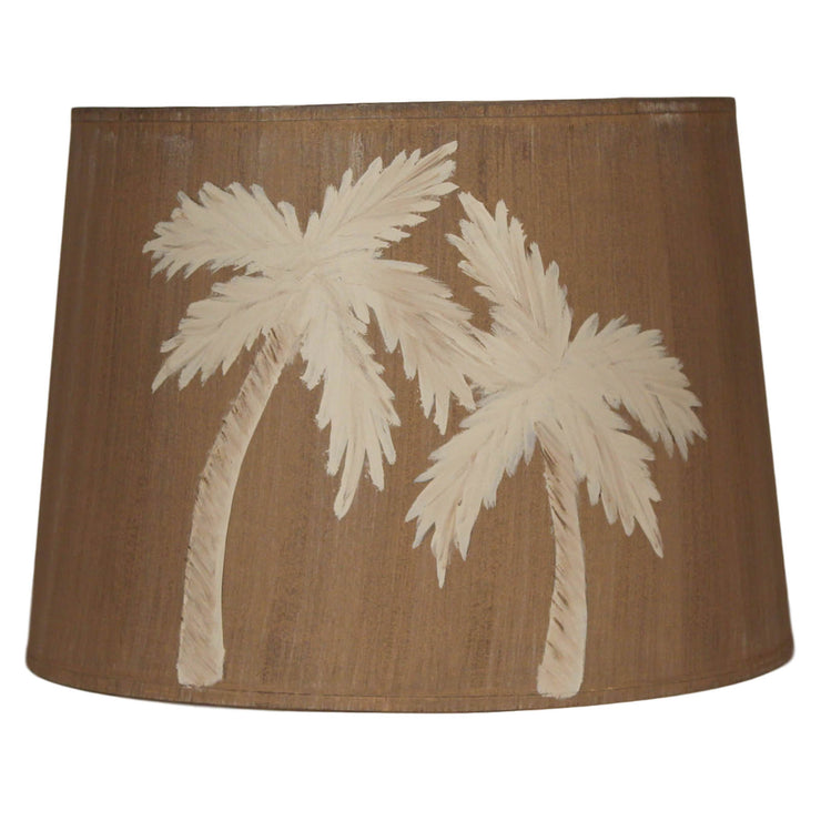 Two Palms Drum Lamp Shade