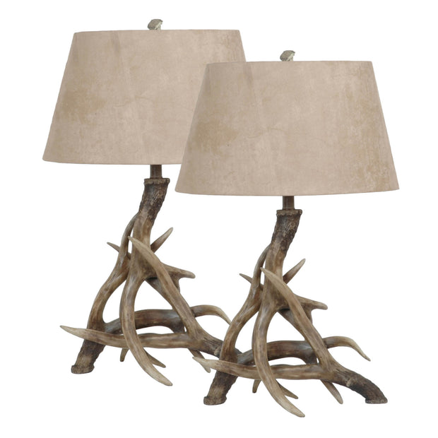 Deer Shed Antler Table Lamp Set of 2