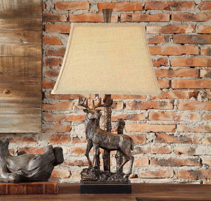 Sculptured Deer Table Lamp