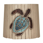 Distressed Cottage Turtle Wood Panel Anchor Lamp Shade