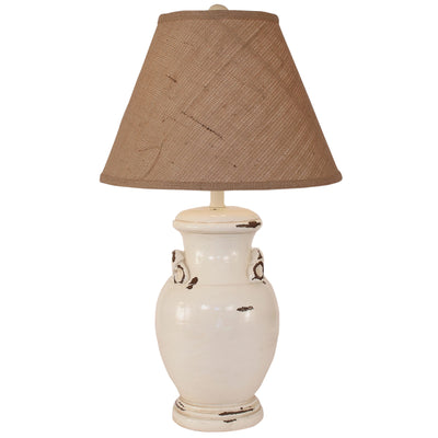Crock Distressed Off-White Table Lamp