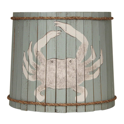 Distressed Atlantic Grey Crab Wood Panel Lamp Shade