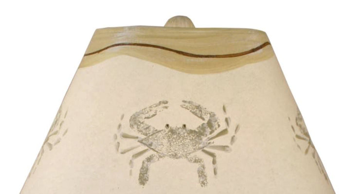 Dock Pilings Table Lamp with Crab Shade Close-up