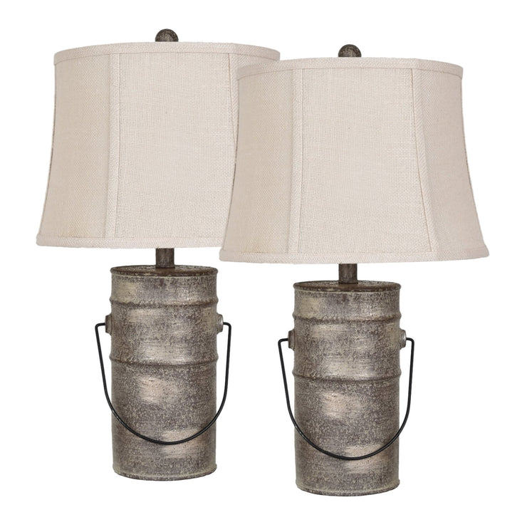 Farm Pail Table Lamp Set of 2