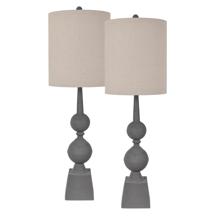 Farmhouse Pediment Buffet Lamp Set of 2