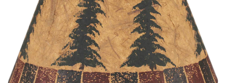 Feather Trees Block Lamp Shade Close-up