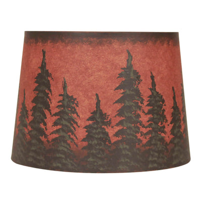 Burnt Red Feather Tree Lamp Shade