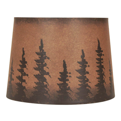 Rustic Brown Feather Tree Lamp Shade