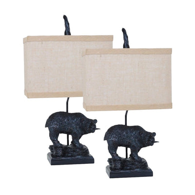 Fishing Bear Table Lamp Set of 2