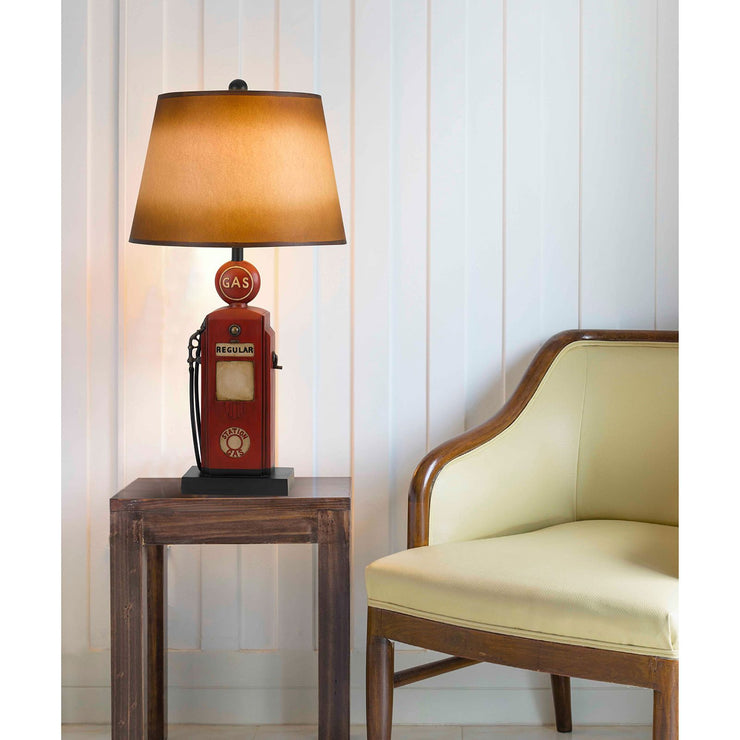 Nostalgic Gas Pump Table Lamp in Room