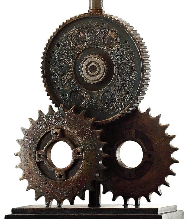 Gears Table Lamp Base Close-up