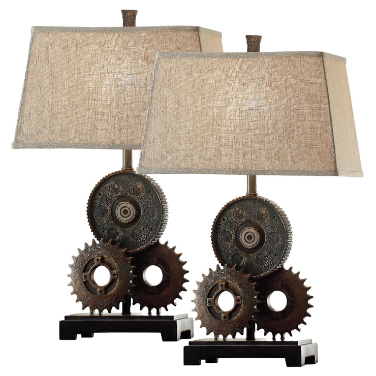 Gears Table Lamp Set of 2