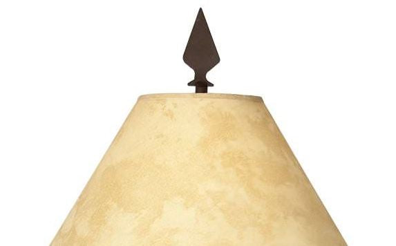 Great Plains Table Lamp Shade Finial Close-up