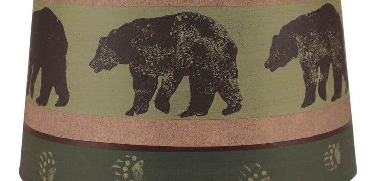 Bear Band Drum Lamp Shade - Green Close-up