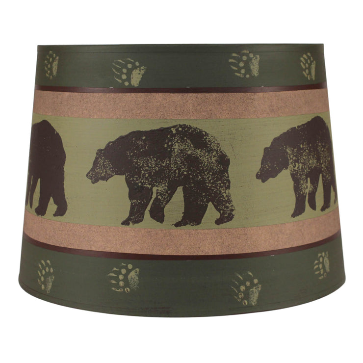 Bear Band Drum Lamp Shade - Green