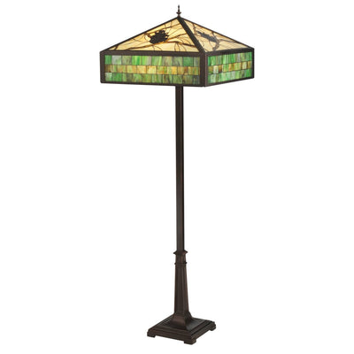 Green Pine Branch Mission Floor Lamp