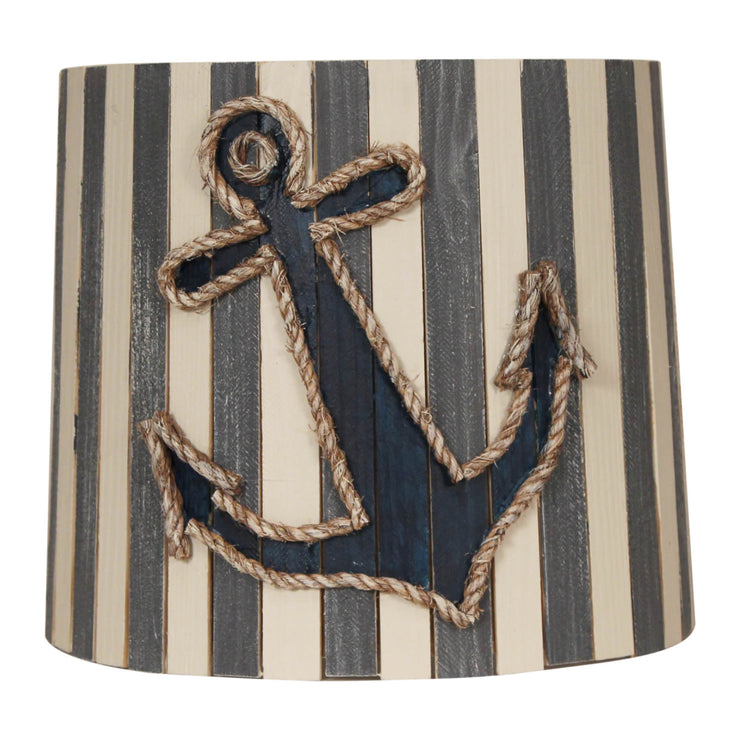 Anchor Striped Wood Panel Lamp Shade