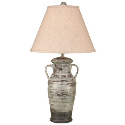2 Handle Vase Greystone Table Lamp