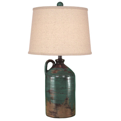 One Handle Jug Harvest Clay Table Lamp