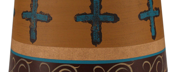 Cross Band Honey Drum Lamp Shade Close-up