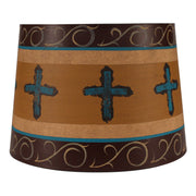 Cross Band Honey Drum Lamp Shade