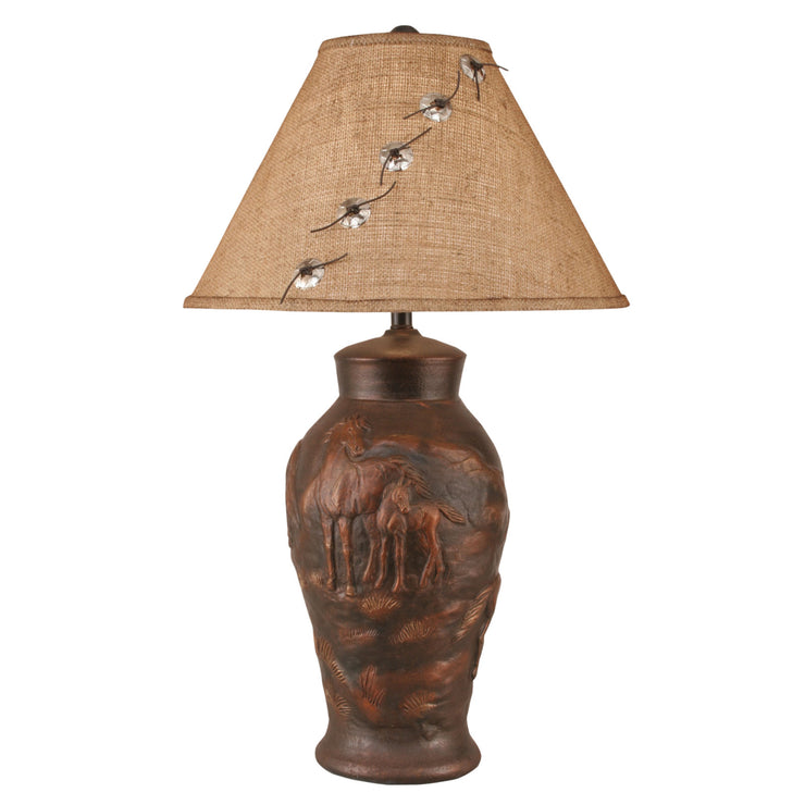Horse Scene Table Lamp