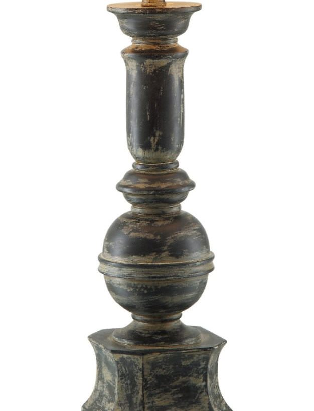 Iron Baluster Table Lamp Base Close-up