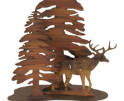 Deer & Trees Table Lamp Base Close-up