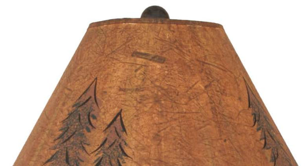 Deer & Trees Table Lamp Shade Close-up