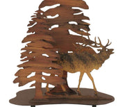 Elk & Trees Table Lamp  Base Close-up