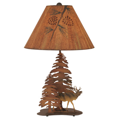 Elk & Trees Table Lamp