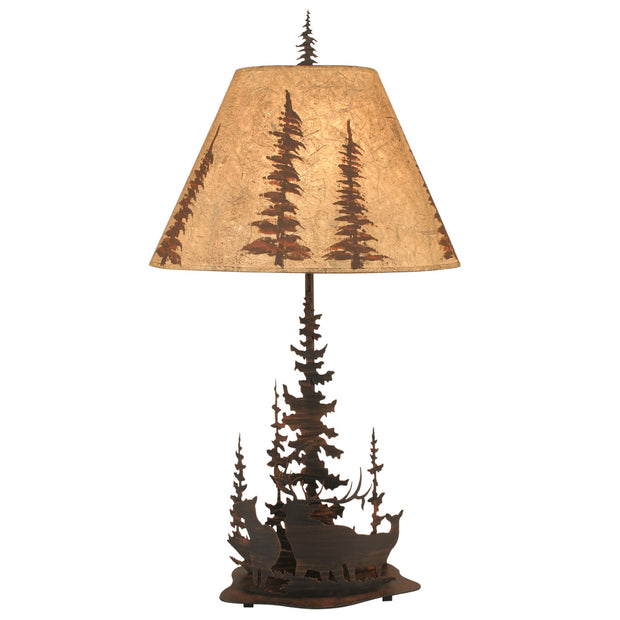Feather Tree Elk Table Lamp