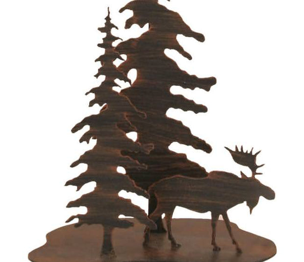 Feather Tree Moose Accent Lamp Base Close-up