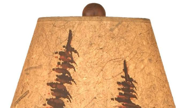 Feather Tree Moose Accent Lamp Shade Close-up