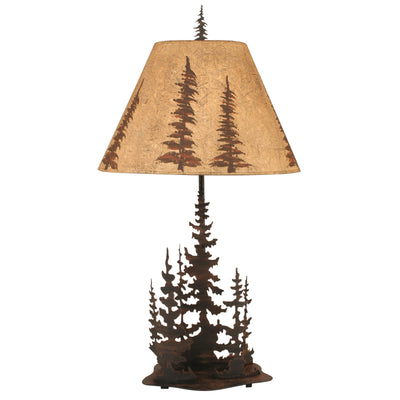 Feather Tree Scene Table Lamp