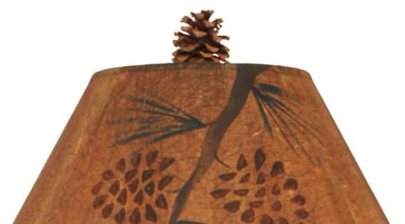 Iron Pine Tree Table Lamp Shade Close-up