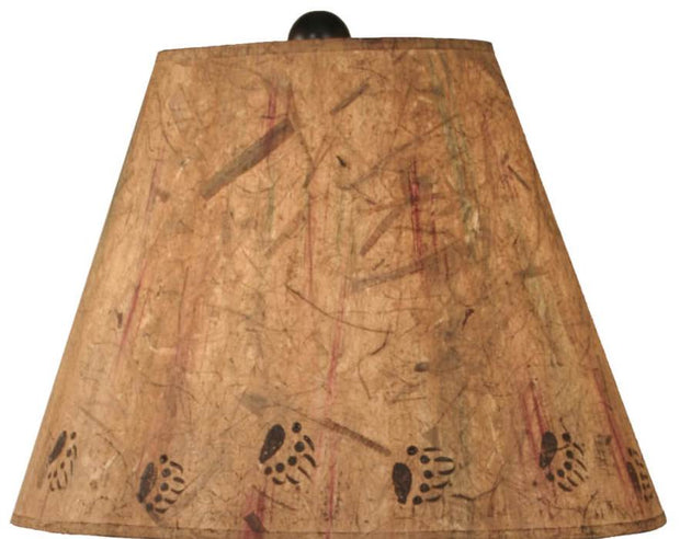 Kodiak Bear Family in Canoe Table Lamp Shade Close-up