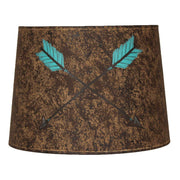 Crossed Arrows Dark Suede Painted Lamp Shade