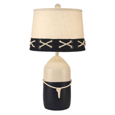 Buoy Table Lamp in White & Navy