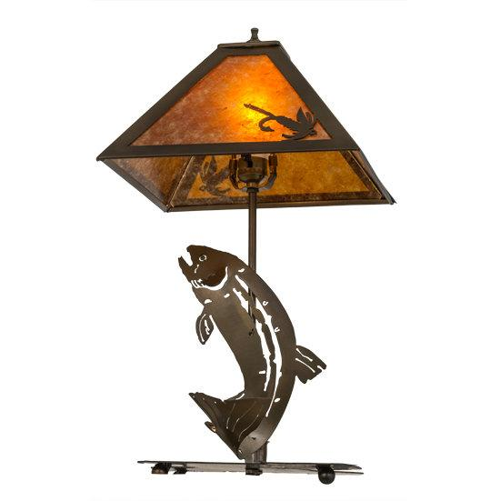 Leaping Trout Table Lamp Bottom/Side View