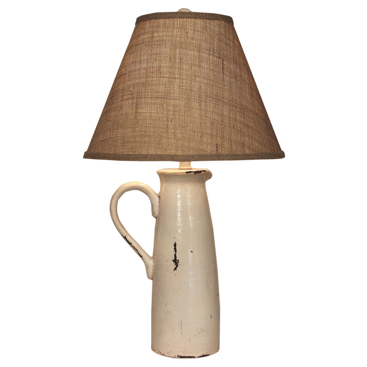 One Handle Pitcher Cream Table Lamp