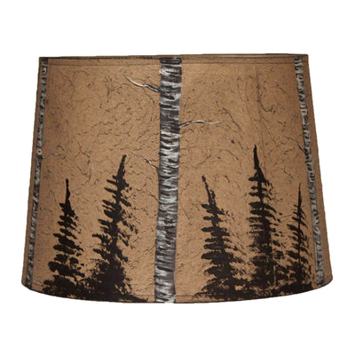 Birch and Feather Tree Drum Lamp Shade