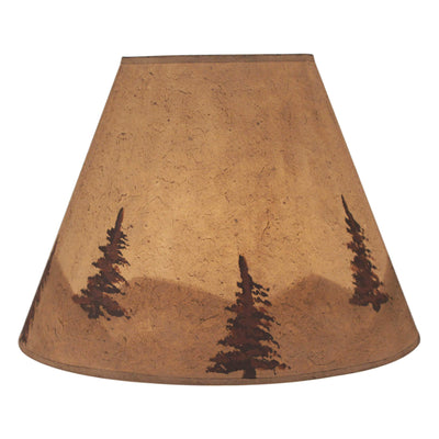 Lodge Watercolor Mountain Scene Lamp Shade