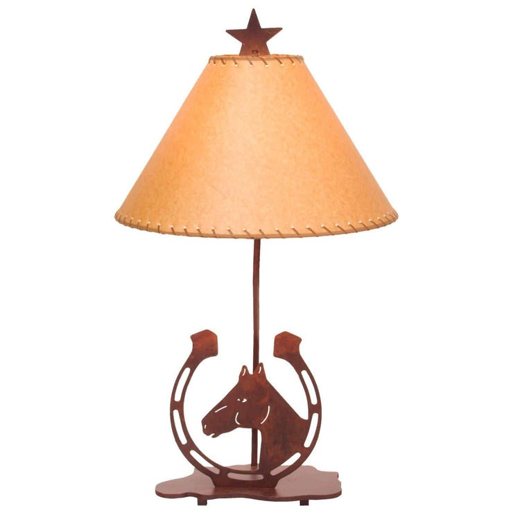 Lucky Horseshoe Table Lamp