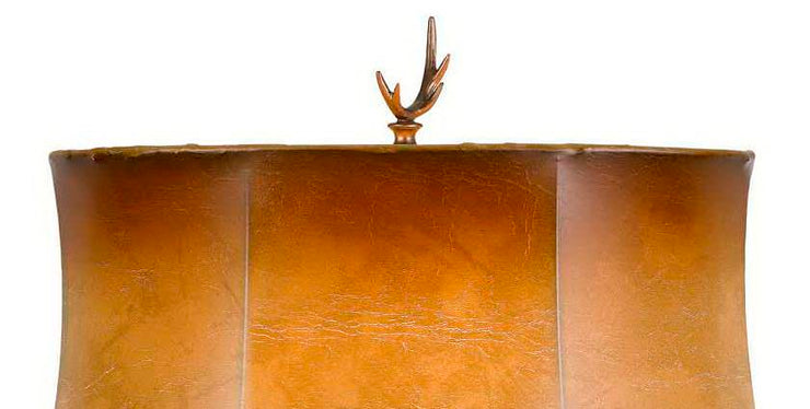 Majestic Elk Table Lamp Shade Finial Close-up