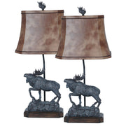 Majestic Moose Table Lamp Set of 2