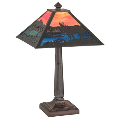 Moose at Lake Table Lamp (choose finish)