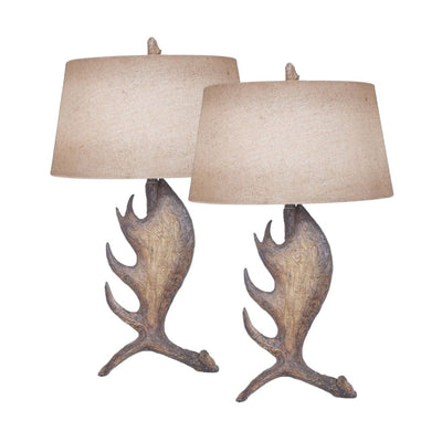 Moose Shed Antler Table Lamp Set of 2