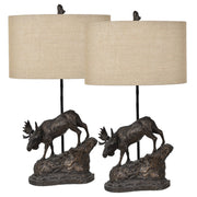 Moose Trail Table Lamp Set of 2